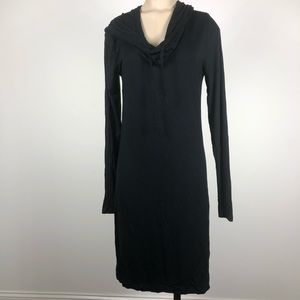 Threads 4 Thought Black Sweatshirt Cowl Neck Dress